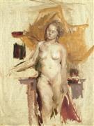 Nudes art,Classical art,Representational art,oil painting,Metallic Nude