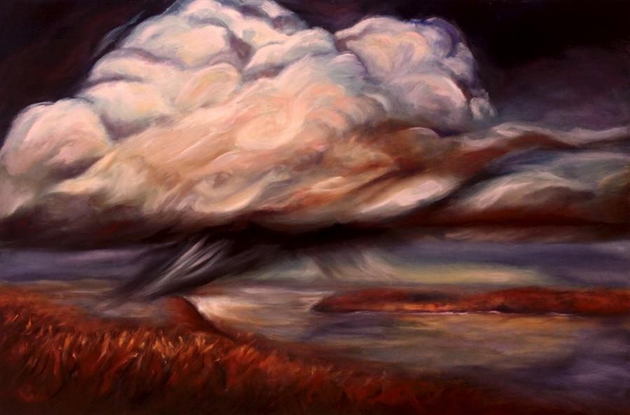 Original art for sale at UGallery.com | Belle Tempête by PANDALANA WILLIAMS | $775 | Oil painting | 24' h x 36' w | http://www.ugallery.com/oil-painting-belle-temp-te