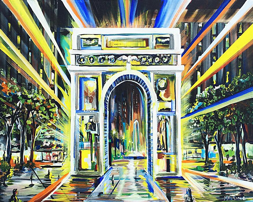 Original art for sale at UGallery.com | Washington Arch by PIERO MANRIQUE | $1,150 | Acrylic painting | 24' h x 30' w | http://www.ugallery.com/acrylic-painting-washington-arch