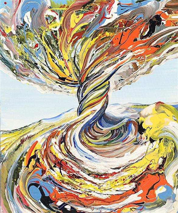 Discover Original Art by Piero Manrique | Rainbow Tree acrylic painting | Art for Sale Online at UGallery