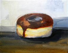Still Life art,Cuisine art,Representational art,oil painting,Chocolate Glazed