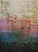 Abstract art,Expressionism art,Non-representational art,mixed media artwork,Abstract Landscape B