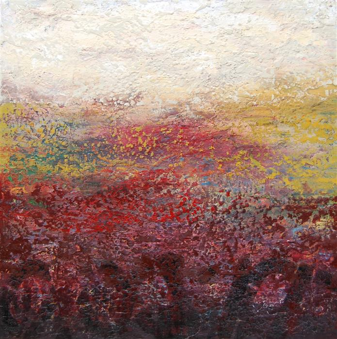 Original art for sale at UGallery.com | Abstract Landscape C by JANET HAMILTON | $2,175 | Mixed media artwork | 36' h x 36' w | http://www.ugallery.com/mixed-media-artwork-abstract-landscape-c
