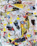 Abstract art,Non-representational art,Primitive art,acrylic painting,Elusive