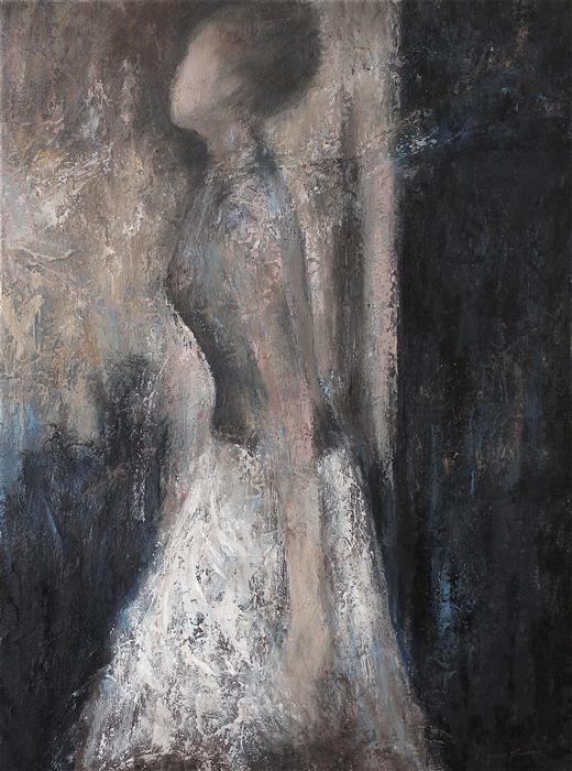 Discover Original Art by Naoko Paluszak | Stepping Out to the Light oil painting | Art for Sale Online at UGallery