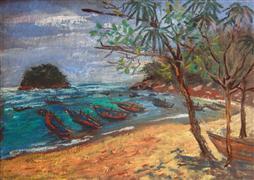 Seascape art,Travel art,pastel artwork,Kata Beach
