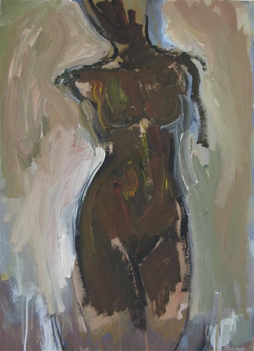Original art for sale at UGallery.com | Black Madonna by STEPHEN POLING | $1,700 | Oil painting | 30' h x 22' w | http://www.ugallery.com/oil-painting-black-madonna