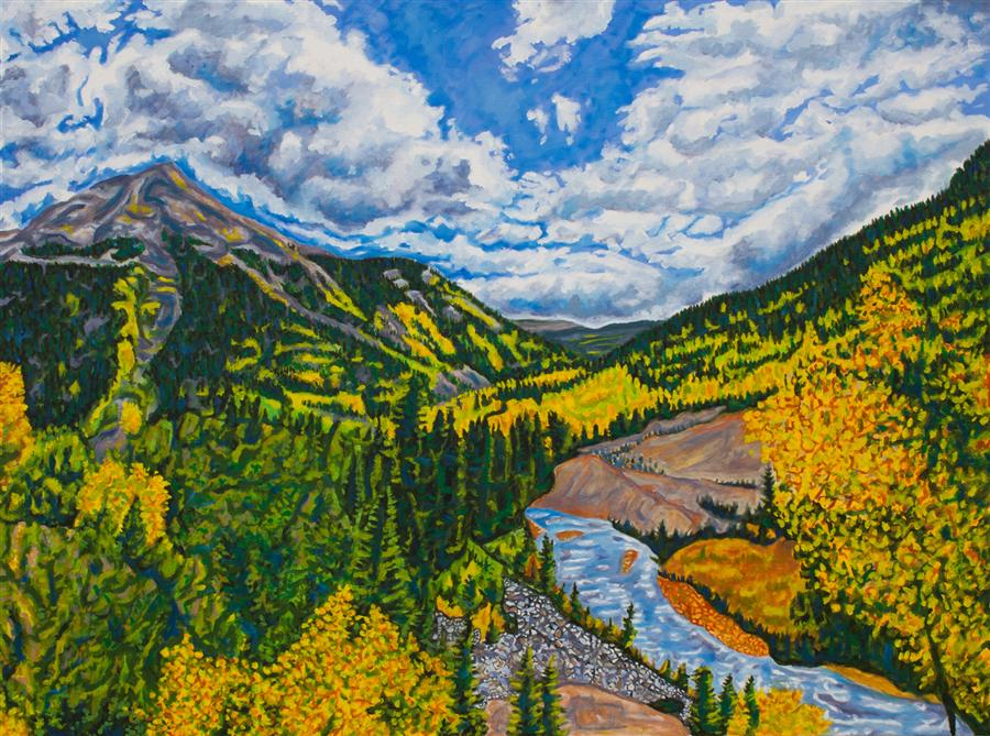 Discover Original Art by Crystal DiPietro | Fall in the San Juans oil painting | Art for Sale Online at UGallery