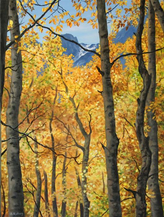 Original art for sale at UGallery.com | Sierra Gold by SUSAN SJOBERG | $1,775 | Acrylic painting | 24' h x 18' w | http://www.ugallery.com/acrylic-painting-sierra-gold