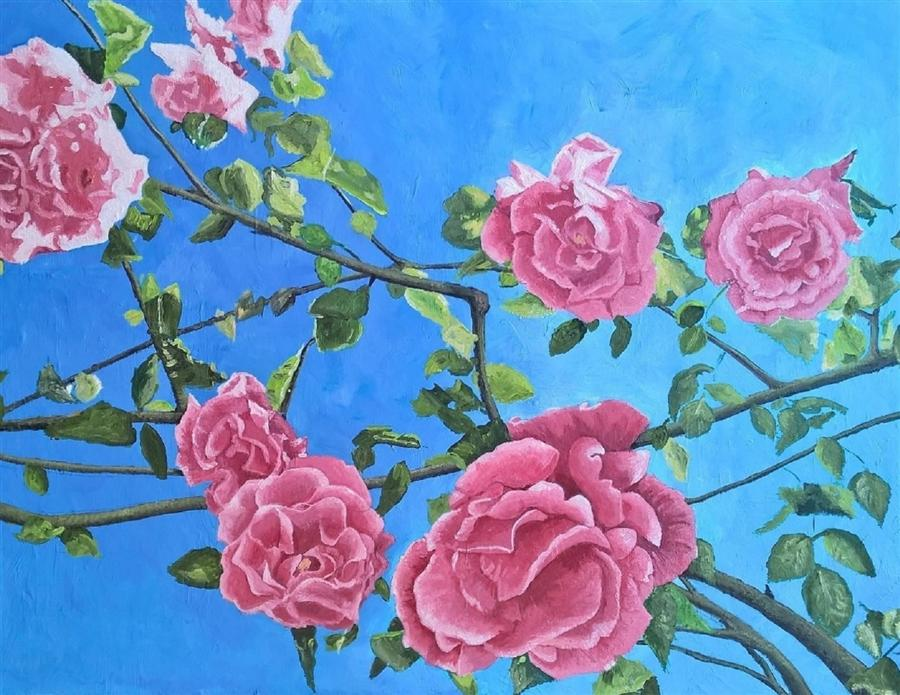 Discover Original Art by Patricia Freeman | Everything's Rosey acrylic painting | Art for Sale Online at UGallery