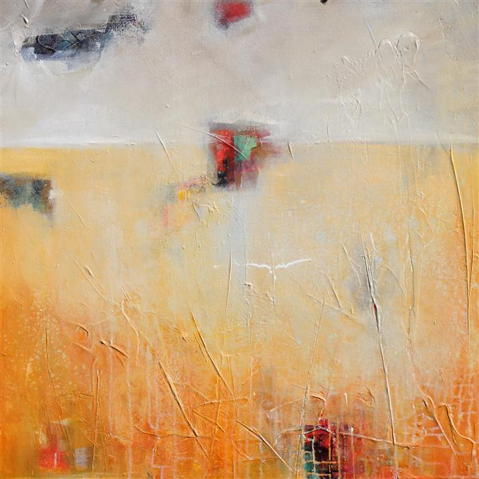 Original art for sale at UGallery.com | Unexpected 3 by KAREN HALE | $1,925 | Acrylic painting | 30' h x 30' w | http://www.ugallery.com/acrylic-painting-unexpected-3