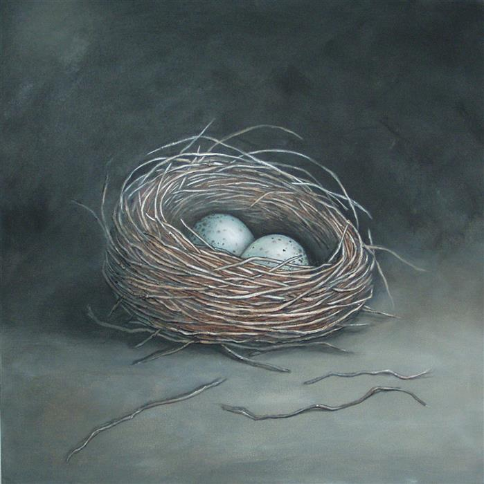 Original art for sale at UGallery.com | Make a Little Birds Nest in Your Soul by JENNIFER ROSS | $1,200 | Acrylic painting | 30' h x 30' w | http://www.ugallery.com/acrylic-painting-make-a-little-birds-nest-in-your-soul