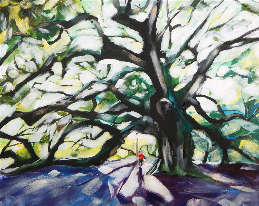 Original art for sale at UGallery.com | Angel Oak by CHRIS WAGNER | $1,025 | Acrylic painting | 24' h x 30' w | http://www.ugallery.com/acrylic-painting-angel-oak