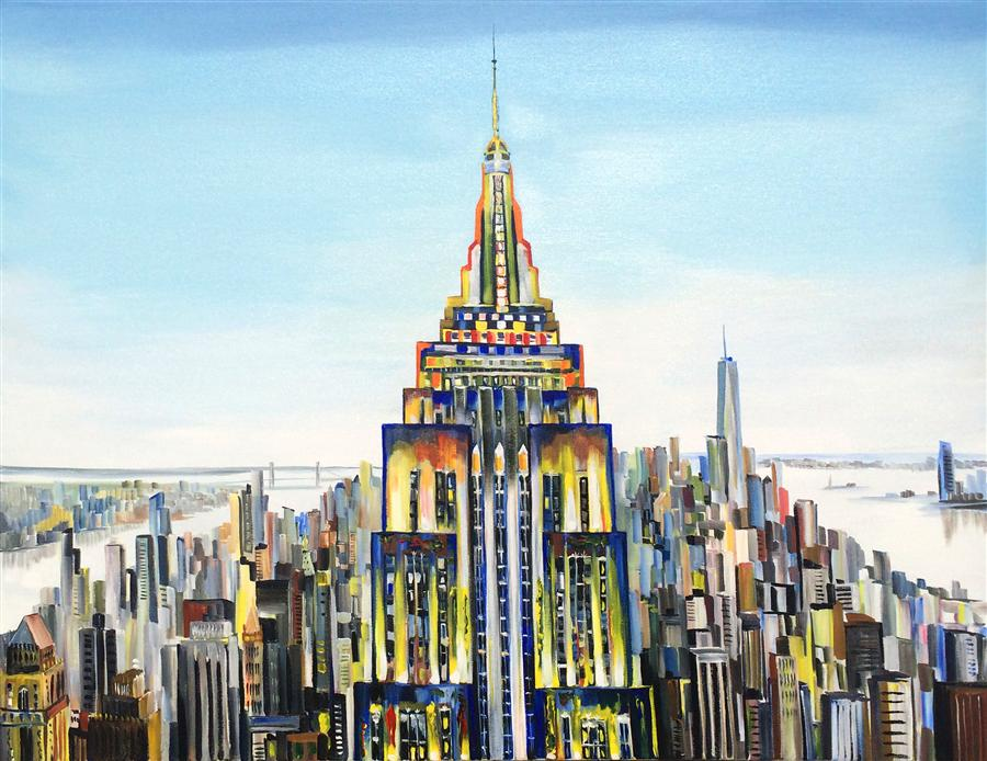 Original art for sale at UGallery.com | Empire by PIERO MANRIQUE | $2,275 | Acrylic painting | 36' h x 48' w | http://www.ugallery.com/acrylic-painting-empire-36433