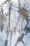 Expressionism art,Nature art,Non-representational art,mixed media artwork,White Rain