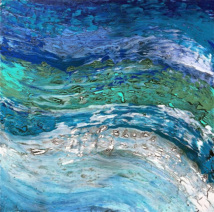 Discover Original Art by Alicia Dunn | Wave after Wave II acrylic painting | Art for Sale Online at UGallery