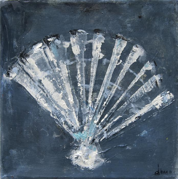 Discover Original Art by Anne Dosso-Powell | Scallop Shell oil painting | Art for Sale Online at UGallery