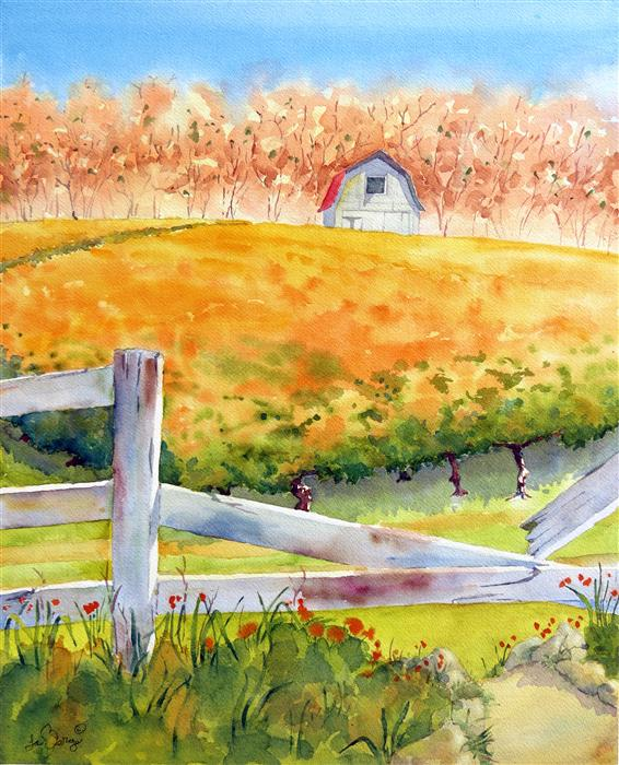 Original art for sale at UGallery.com | California Vineyard by NANCY MUREN | $675 | Watercolor painting | 22' h x 18' w | http://www.ugallery.com/watercolor-painting-california-vineyard