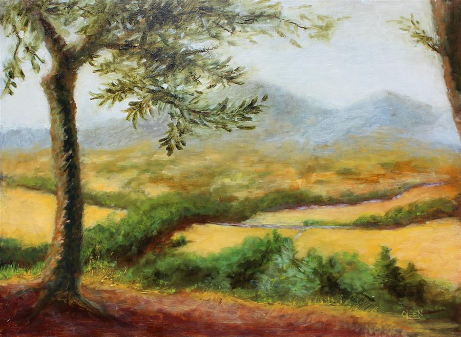 Discover Original Art by Christy Olsen | Umbria oil painting | Art for Sale Online at UGallery