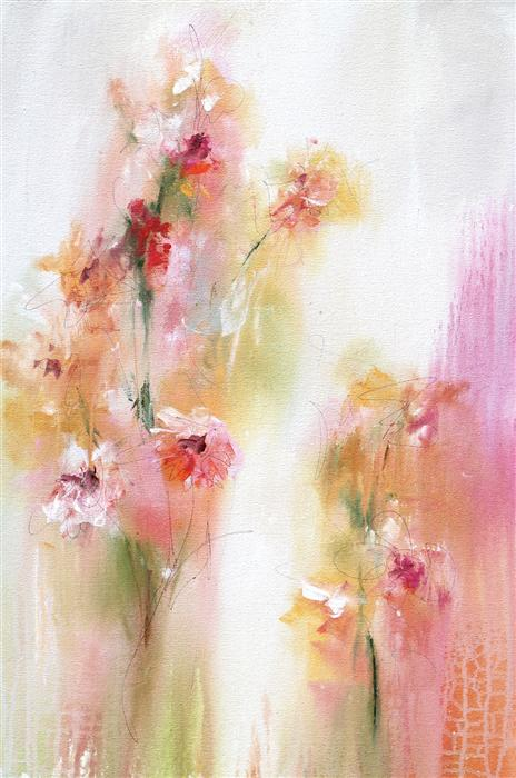 Original art for sale at UGallery.com | The Joy of Spring by KAREN HALE | $1,450 | Acrylic painting | 30' h x 20' w | http://www.ugallery.com/acrylic-painting-the-joy-of-spring
