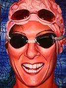 People art,Sports art,Representational art,oil painting,The Joy of Swimming
