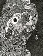 Fantasy art,Surrealism art,Representational art,ink artwork,I'm No Doctor, but My Face Hurts