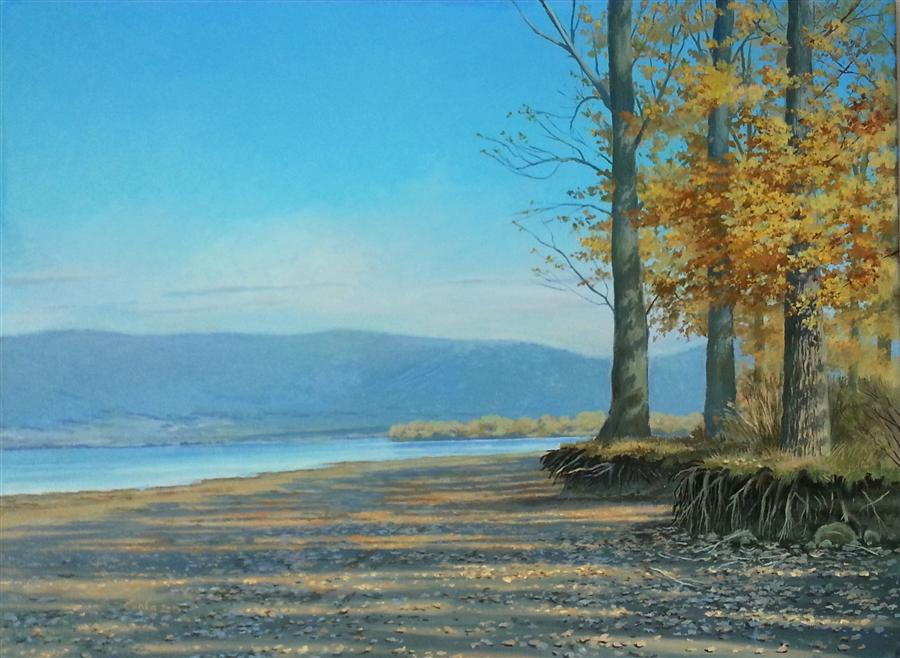 Discover Original Art by Stefan Conka | Autumn Shadows oil painting | Art for Sale Online at UGallery