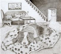 pencil drawing,Living Room
