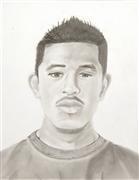 pencil drawing,Self Portrait (Jose Flores)