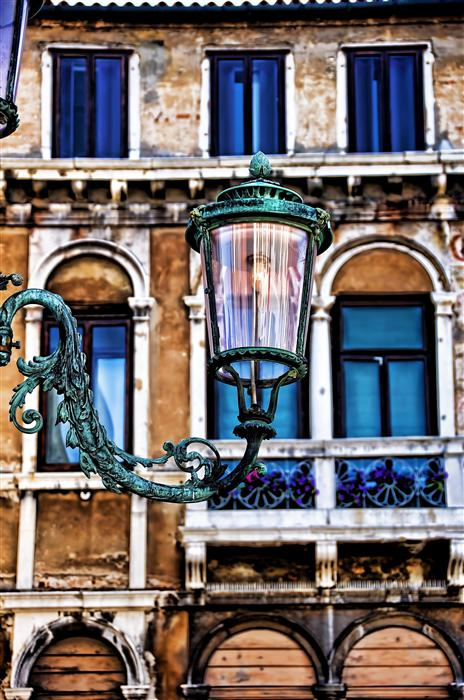 Original art for sale at UGallery.com | Venetian Lamp Post by NOELLE VISCONTI | $195 |  | ' h x ' w | http://www.ugallery.com/photography-venetian-lamp-post