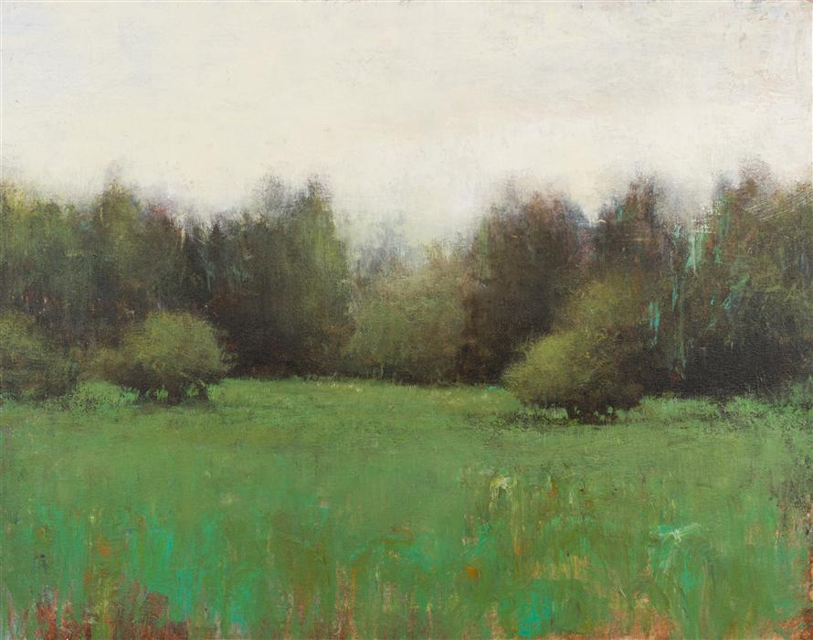 Original art for sale at UGallery.com | Green Meadow by DON BISHOP | $1,000 | Acrylic painting | 22' h x 28' w | http://www.ugallery.com/acrylic-painting-green-meadow-36915