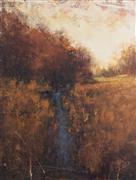 Impressionism art,Landscape art,Classical art,Non-representational art,acrylic painting,Wetlands Stream