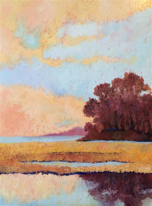 Original art for sale at UGallery.com | Spring Sky Awakening by ROXANNE STEED | $2,650 | Oil painting | 40' h x 30' w | http://www.ugallery.com/oil-painting-spring-sky-awakening
