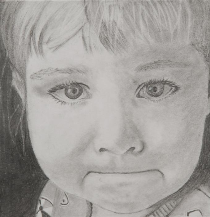 Discover Original Art by Boys & Girls Clubs of San Francisco | Tears in His Eyes 2 (Gouri) pencil drawing | Art for Sale Online at UGallery