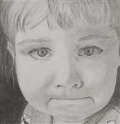 pencil drawing,Tears in His Eyes 2 (Gouri)