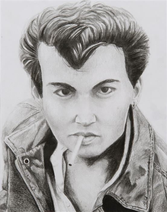 Discover Original Art by Boys & Girls Clubs of San Francisco | Johnny Depp pencil drawing | Art for Sale Online at UGallery