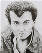 pencil drawing,Johnny Depp