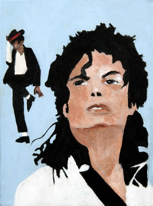 Discover Original Art by Boys & Girls Clubs of San Francisco | Michael Jackson acrylic painting | Art for Sale Online at UGallery