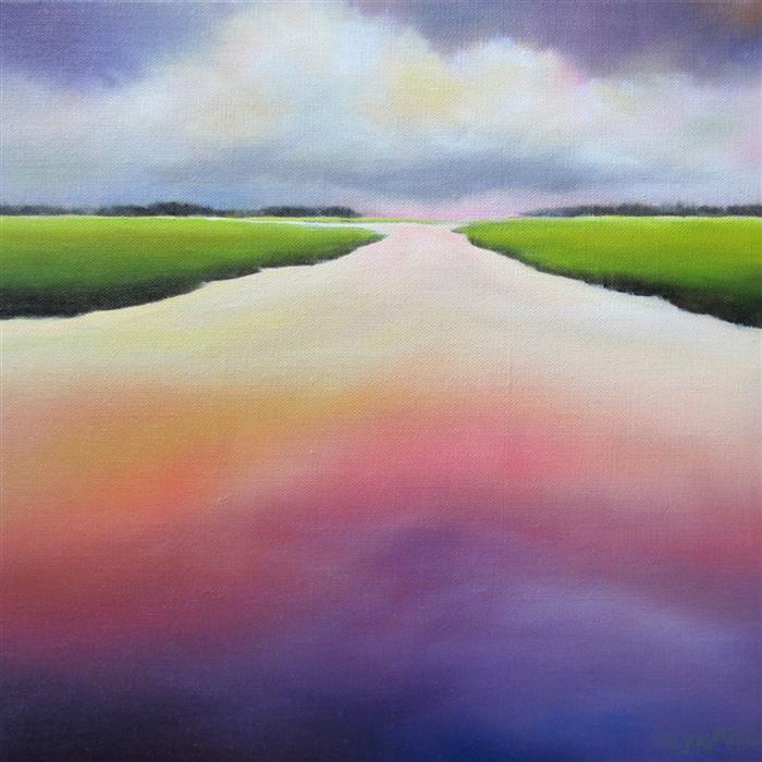 Original art for sale at UGallery.com | Morning on the Marsh by NANCY HUGHES MILLER | $525 | Oil painting | 12' h x 12' w | http://www.ugallery.com/oil-painting-morning-on-the-marsh