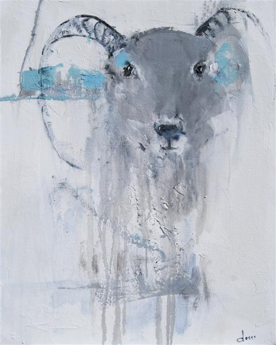 Original art for sale at UGallery.com | Trophy by ANNE DOSSO-POWELL | $1,700 | Oil painting | 30' h x 24' w | http://www.ugallery.com/oil-painting-trophy
