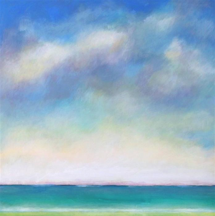 Original art for sale at UGallery.com | Horizon by SUZANNE NICOLL | $2,000 | Acrylic painting | 30' h x 30' w | http://www.ugallery.com/acrylic-painting-horizon-38220