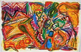 Abstract art,Expressionism art,Non-representational art,printmaking,Mountain Dance