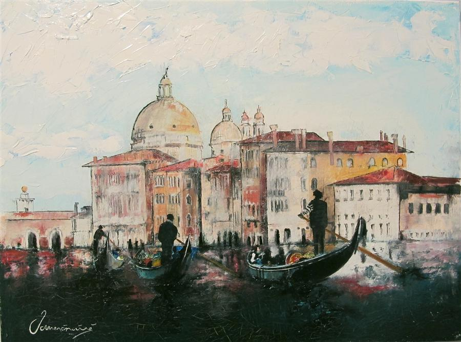 Original art for sale at UGallery.com | Old Venice by NEDIM OMERCAUSEVIC | $675 | Oil painting | 18' h x 24' w | http://www.ugallery.com/oil-painting-old-venice
