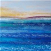 Abstract art,Seascape art,Non-representational art,acrylic painting,The View Across