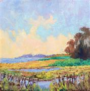 Landscape art,Nature art,Representational art,oil painting,Spring Warm Up