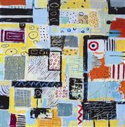 Abstract art,Non-representational art,acrylic painting,Metamorphosis 4