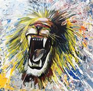 Discover Original Art by Piero Manrique | Roar acrylic painting | Art for Sale Online at UGallery