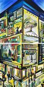 Architecture art,Expressionism art,Street Art art,Representational art,acrylic painting,Urban Angles II