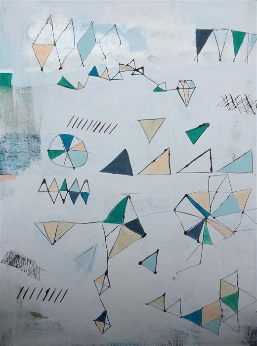 Original art for sale at UGallery.com | Geometric 1 by AMY EARLY | $925 | Acrylic painting | 24' h x 18' w | http://www.ugallery.com/acrylic-painting-geometric-1