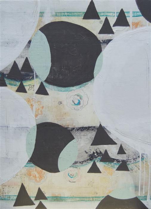 Original art for sale at UGallery.com | Gray Triangles by AMY EARLY | $700 | Mixed media artwork | 24' h x 18' w | http://www.ugallery.com/mixed-media-artwork-gray-triangles